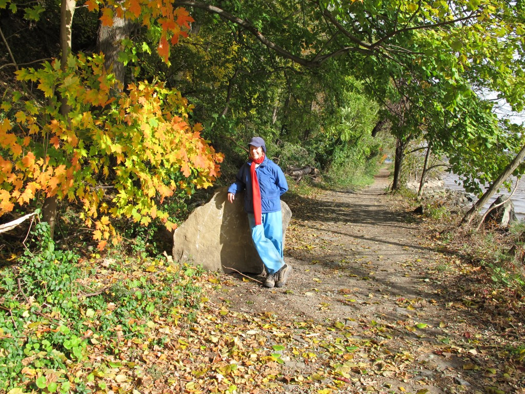 Palisades enthusiast Margo Moss on the Shore Trail.