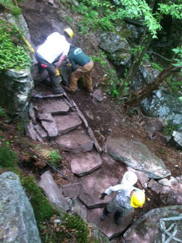 Long Distance Trail Crew on Cross Mountain, Catskills