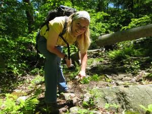 Land Stewardship Director Linda Rohleder in the field.
