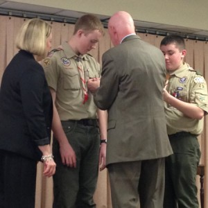 Matt Whittle becomes Eagle Scout