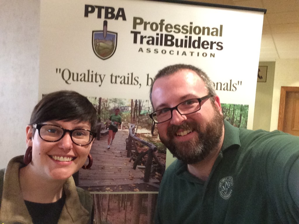 Ama & Jeff at Professional Trail Builders Association Conference