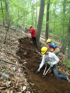 Palisades Trail Crew at work on new trail