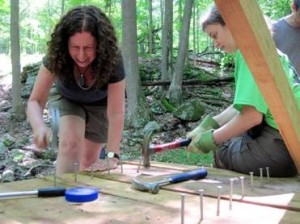 Marci and Linda, the 1779 Trail Maintainers who initiated the project