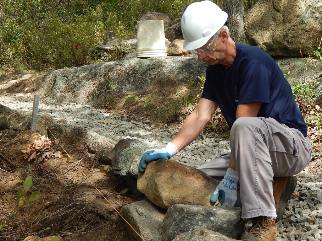 Kevin Stamey showing signs of the stone bug sickness.