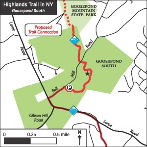 Highlands Trail in Chester Map