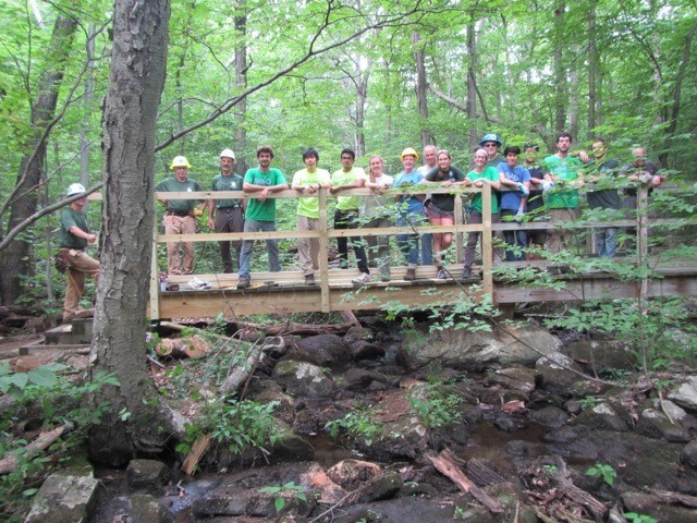 Completed trail bridge NJ