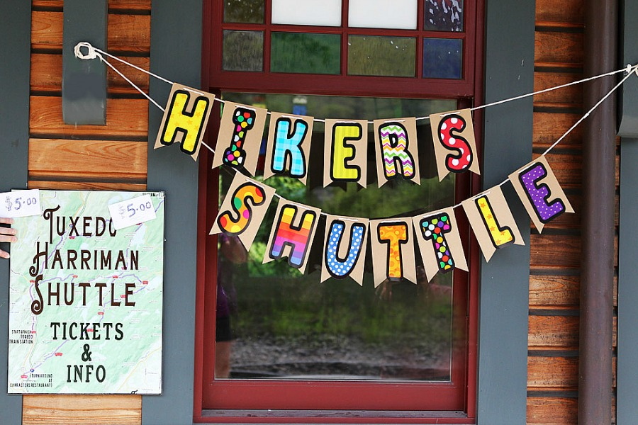 Hikers shuttle banner