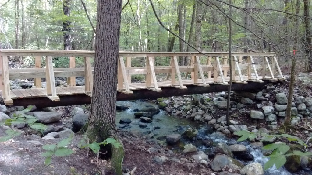 New Bridge Completed on Stony Brook and Blue Mountain Trails
