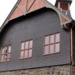 Darlington restored exterior with original colors.