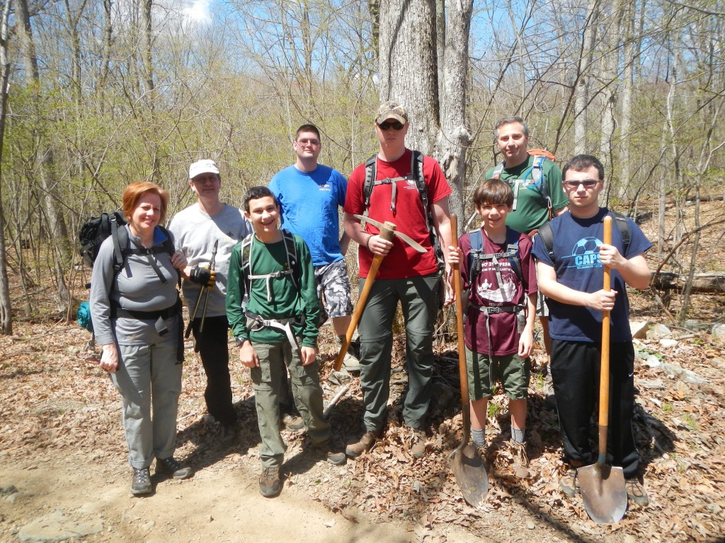 Zack, his troop, friends, and family have all pitched in to improve the Long Swamp Trail.
