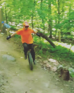Brian Lanius is an invaluable volunteer--and a mountain unicyclist!